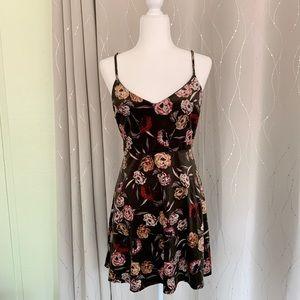 Lush Green Velvet Flora Dress